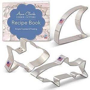 Ann Clark Cookie Cutters 3-Piece Shark Set